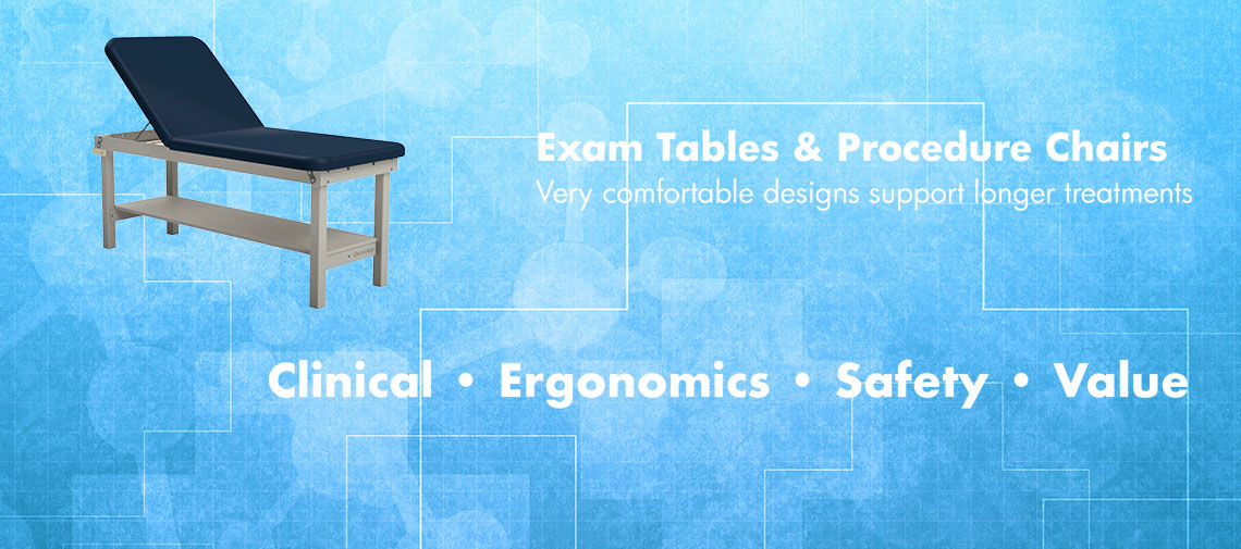 Oakworks Medical Exam Tables and Chairs