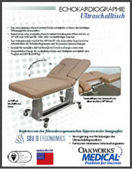 Echocardiography Ultrasound Table Flyer German