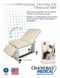 General 3 Section Top Ultrasound Table Flyer