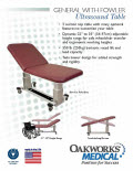 General 2 Section Top Ultrasound Table with Fowler Flyer