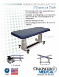 General Rectangular top Ultrasound Table Flyer